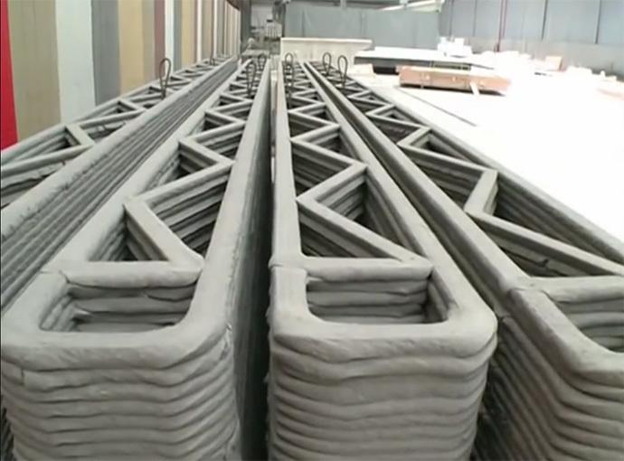 Китайский 3D принтер строит 10 домов в день