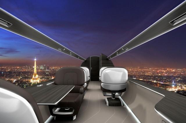 Самолет с панорамным видом - полностью без иллюминаторов