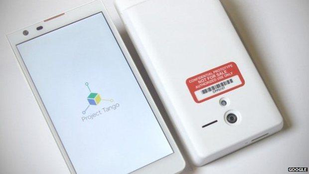 Компания Google анонсировала смартфон с 3D датчиком